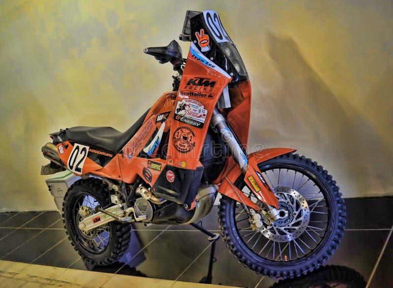 Экспо велосипеда Moto стоковые изображения rf