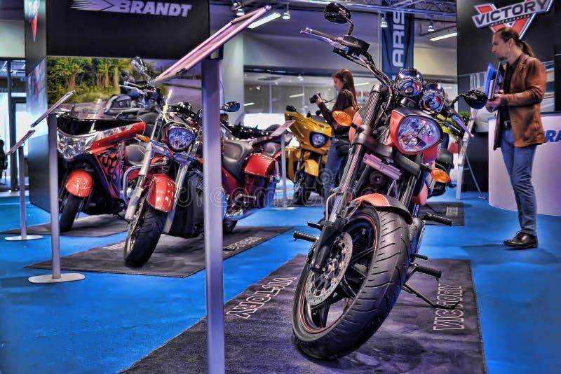 Экспо велосипеда Moto стоковое фото
