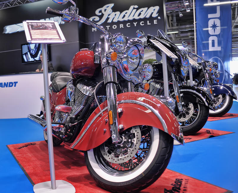 Экспо велосипеда Moto стоковые изображения