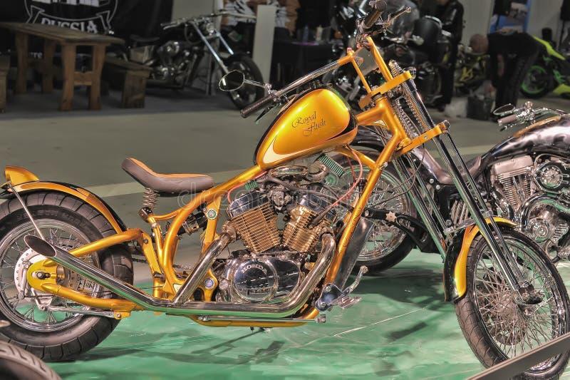 Экспо велосипеда Moto стоковые фото
