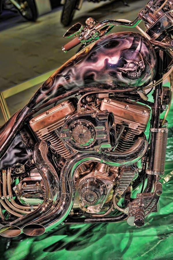 Экспо велосипеда Moto стоковое изображение rf