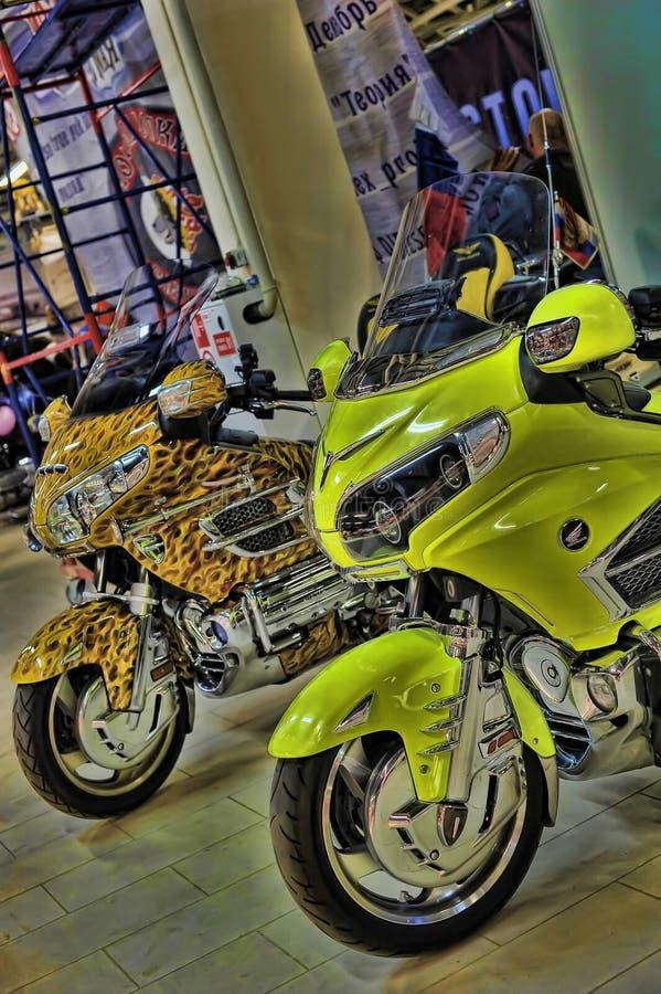 Экспо велосипеда Moto стоковая фотография