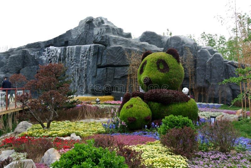 ЭКСПО 2019, китайский классический сад, китайские архитектуры, китайская культура, экспозиция 2019 Пекин международная садовничес стоковые изображения