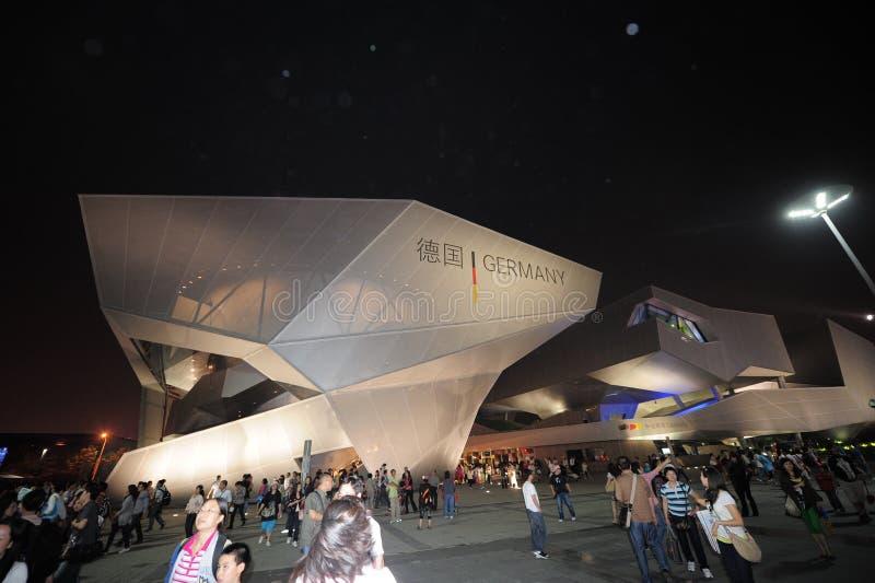 Экспо 2010 Китая в павильоне Шанхая Германии стоковые фотографии rf