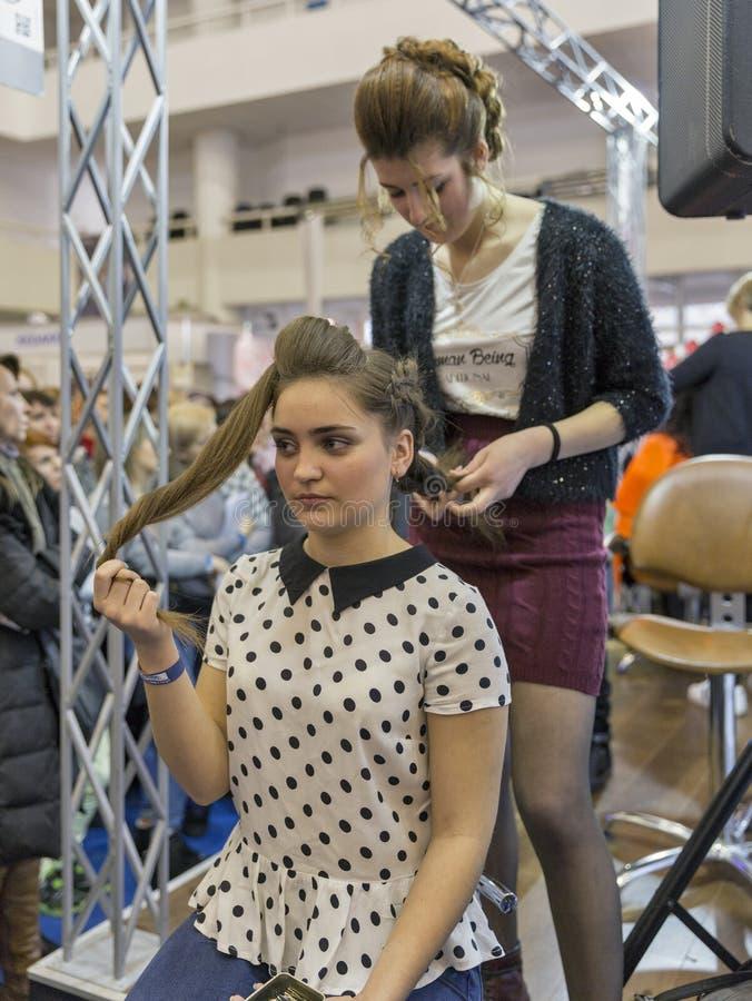 Экспо красоты Estet в Киеве, Украине стоковые фото