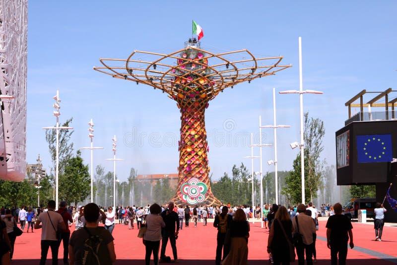 Экспо 2015 Милана стоковая фотография
