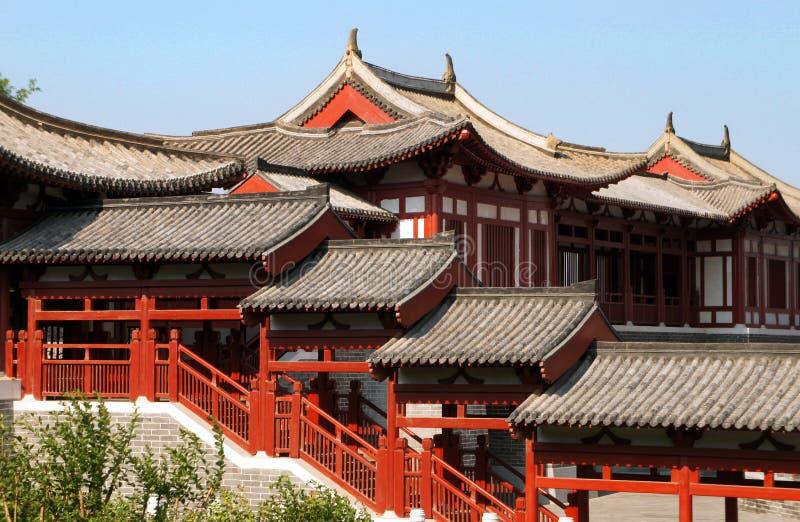Экспо сада Пекина, китайский классический архитектурный стиль стоковые фотографии rf