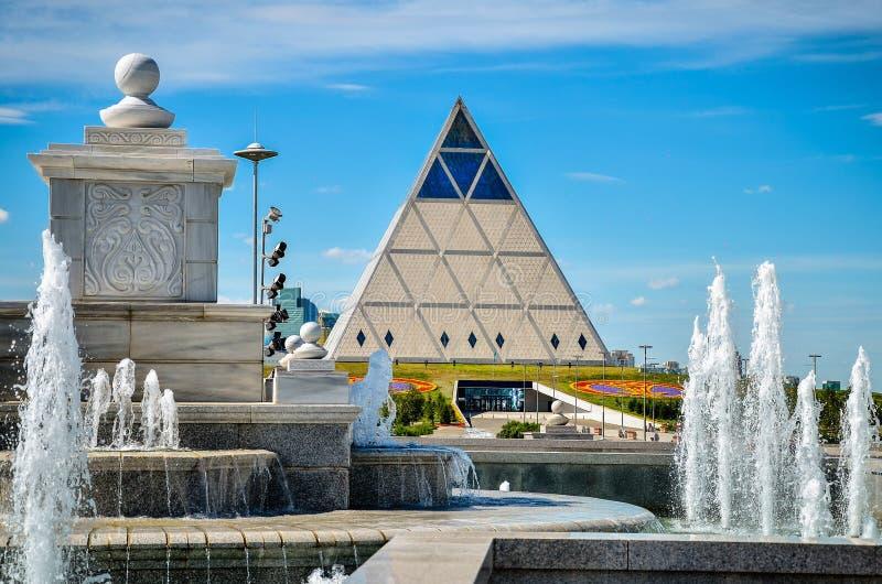 Экстерьер дворца здания мира и примирения стоковые фото