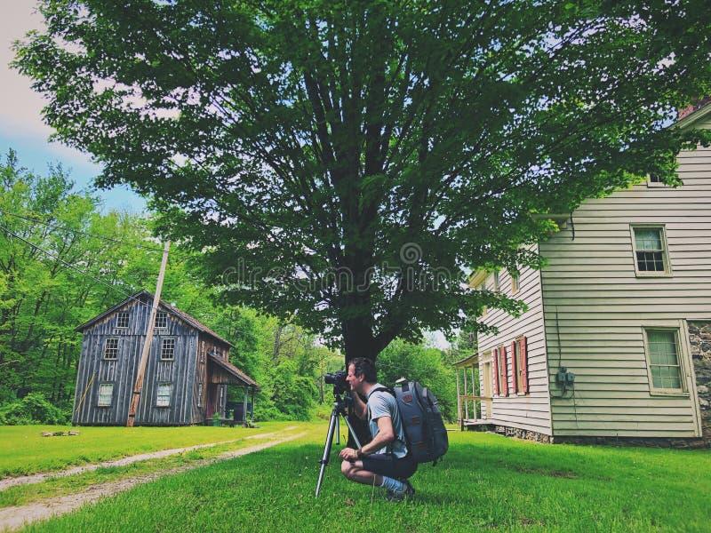 Экстерьер домов в деревне Millbrook стоковые фотографии rf