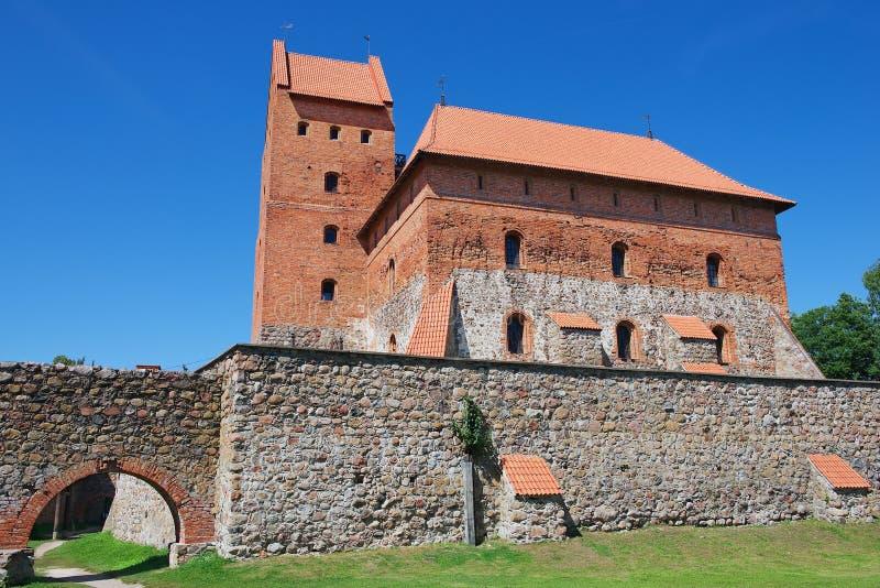 Экстерьер замка Trakai в Trakai, Литве стоковое изображение rf
