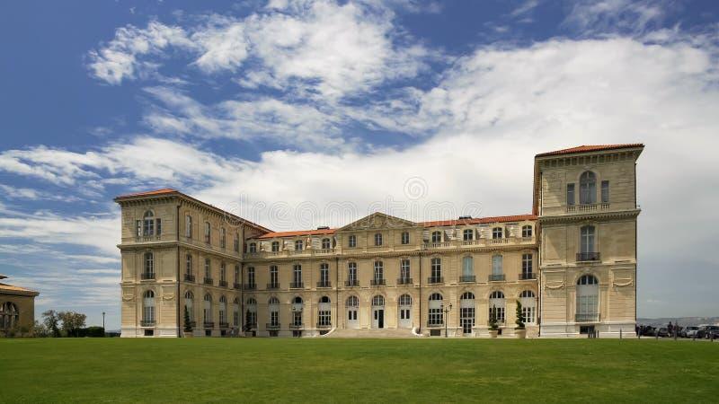 Экстерьер здания университета AIX-марселя, французская архитектура, образование стоковая фотография rf