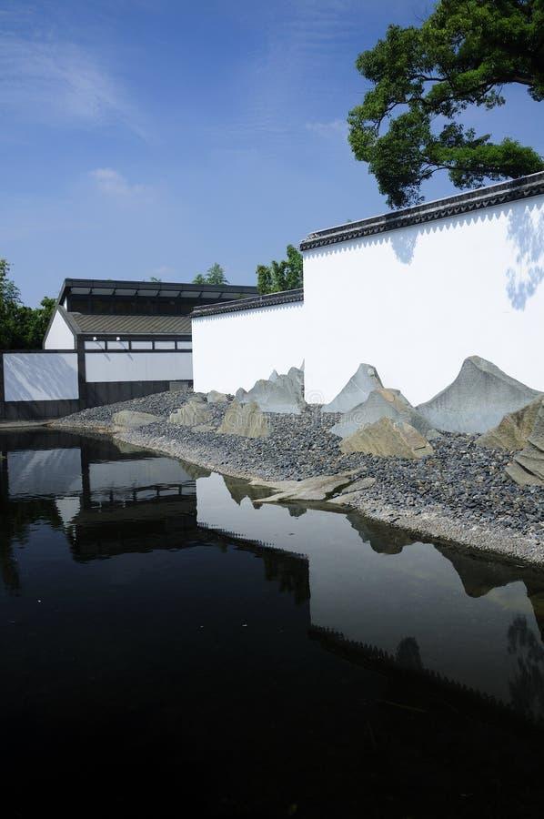 Экстерьер здания музея Сучжоу стоковое фото rf