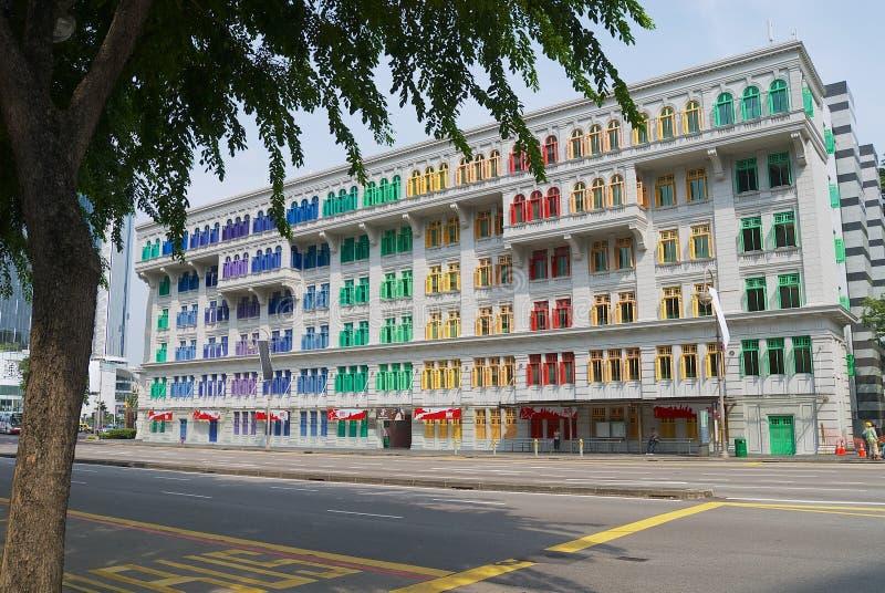 Экстерьер здания СЛЮДЫ в Сингапуре, Сингапуре стоковые изображения rf