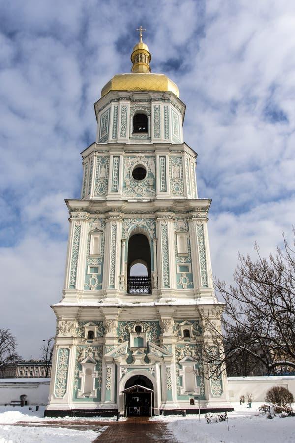 Экстерьер колокольни на соборе St Софии в Киеве Kyiv, Украине стоковое изображение