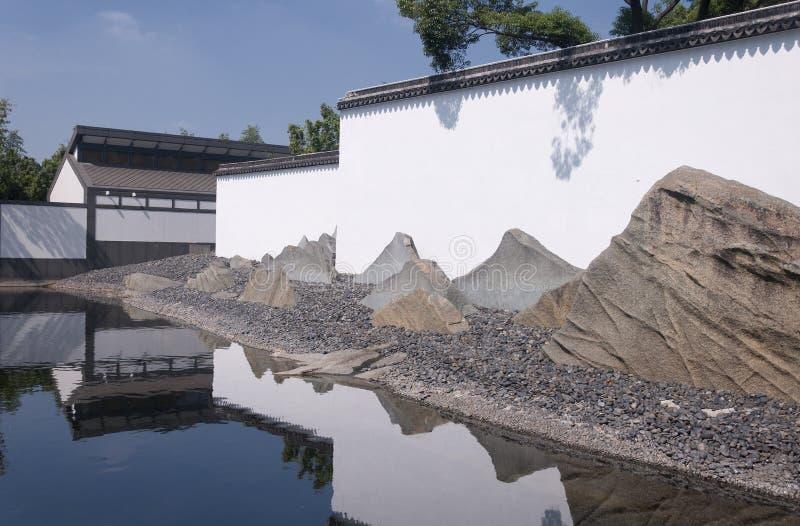 Экстерьер музея Сучжоу стоковая фотография rf