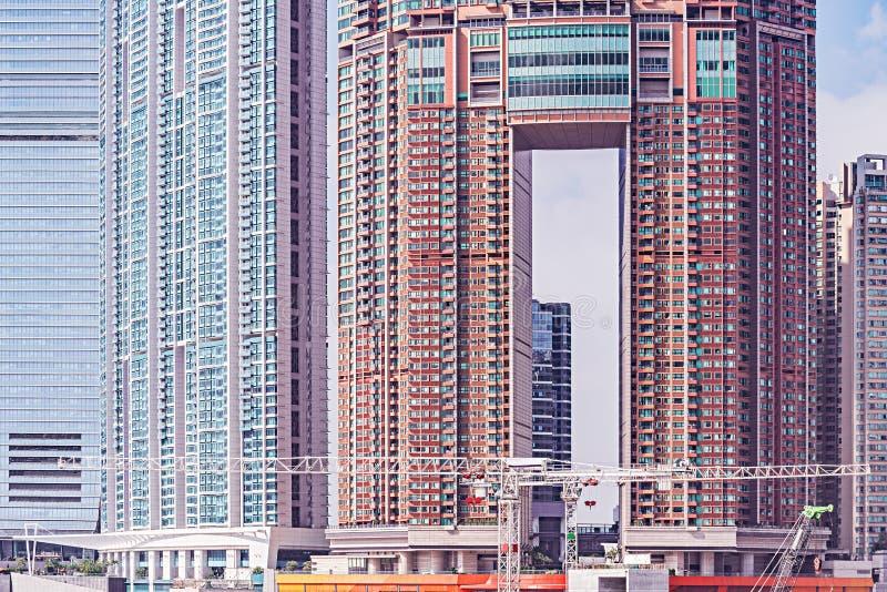 Экстерьер новых жилых домов стоковое изображение