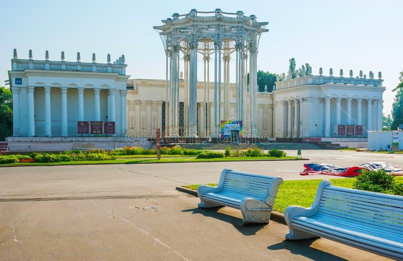 Экстерьер павильона Узбекистана в последнее время назвал Культуру на территории VDNH, Москве стоковые фотографии rf