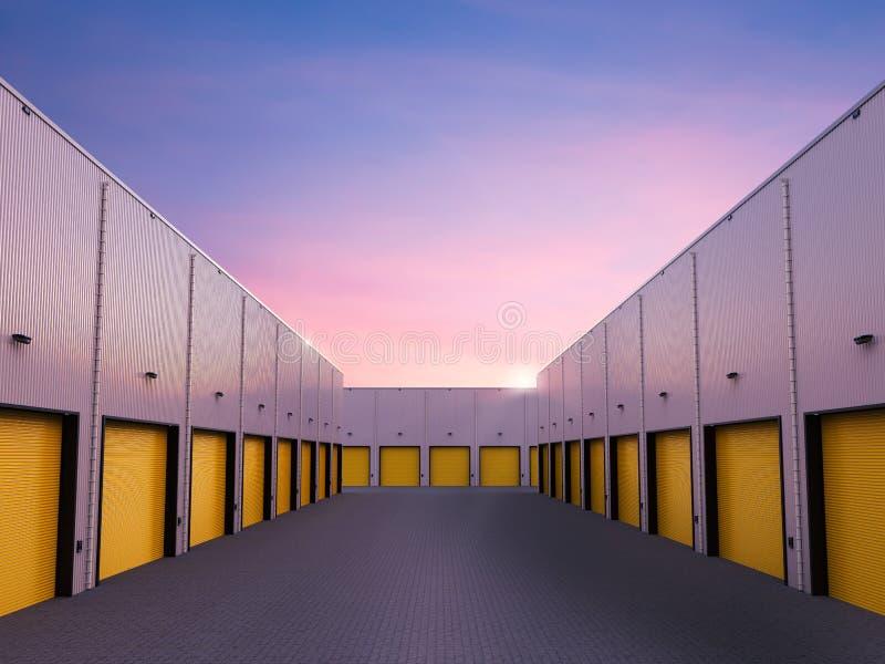 Экстерьер склада при закрытые двери бесплатная иллюстрация