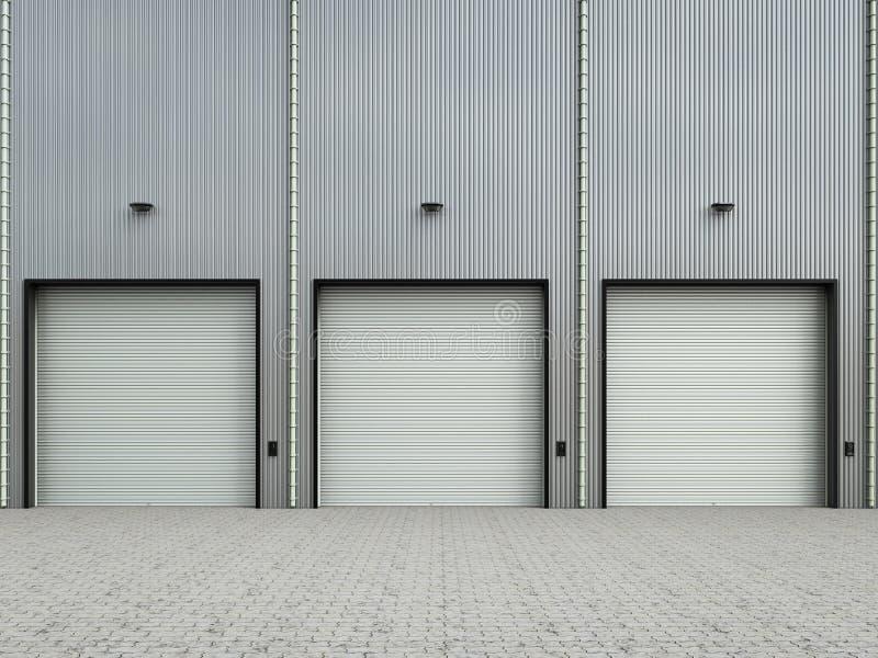 Экстерьер склада с дверями штарки бесплатная иллюстрация