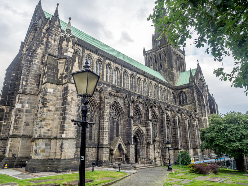 Экстерьер собора Глазго стоковые фотографии rf