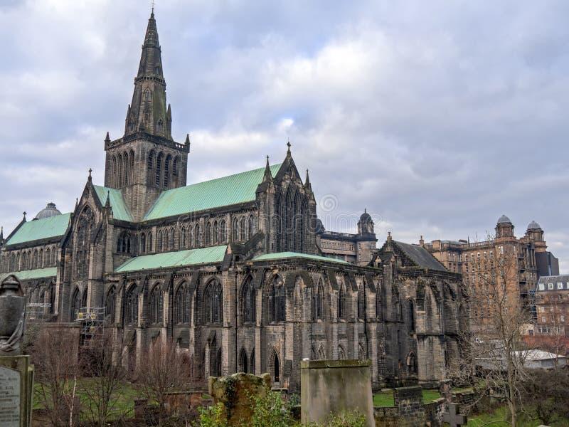 Экстерьер собора Глазго стоковая фотография rf