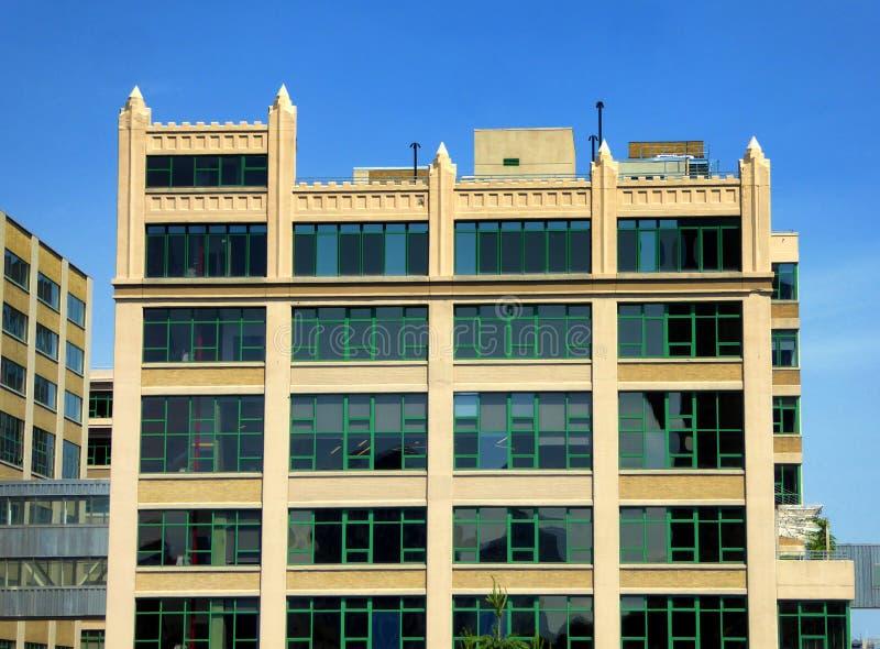 Экстерьер стекла офисных зданий Нью-Йорка стоковое изображение rf