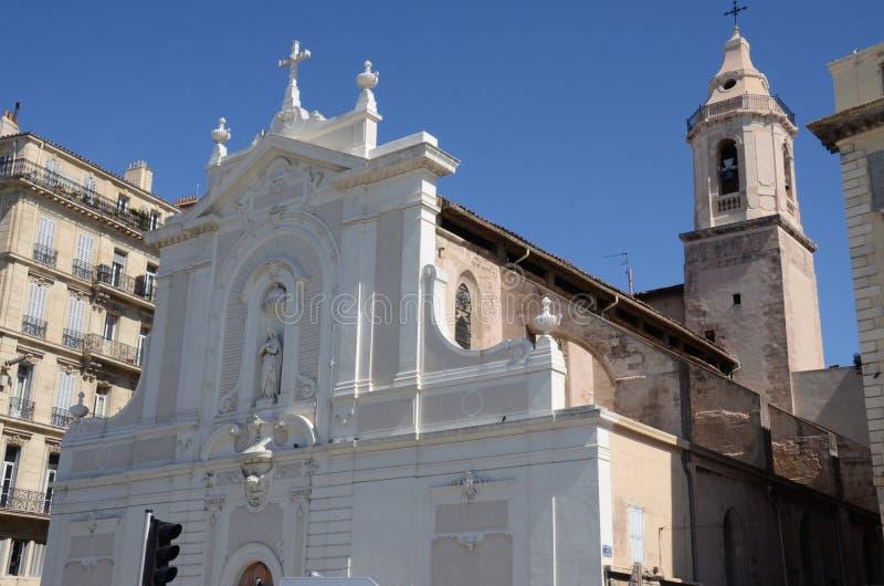 Экстерьер церков в марселе - ориентир ориентирах марселя стоковое фото rf