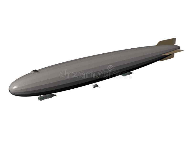 экстерьер airship твердый иллюстрация вектора