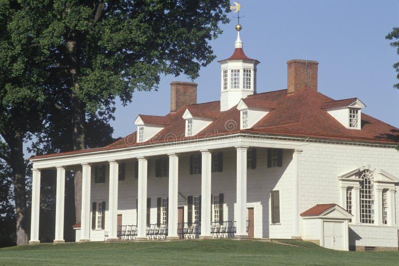 Экстерьер Mt Вернон, Вирджиния, дом Джорджа Вашингтона стоковая фотография rf