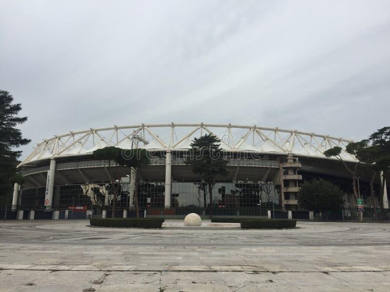 Экстерьер Olympic Stadium Рима стоковые изображения rf