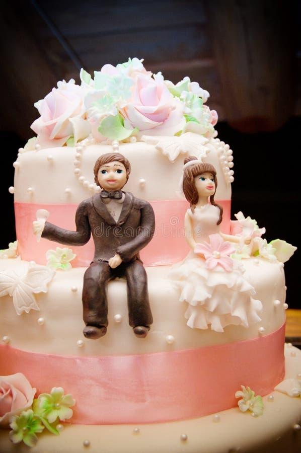 Экстракласс свадебного пирога стоковое фото rf