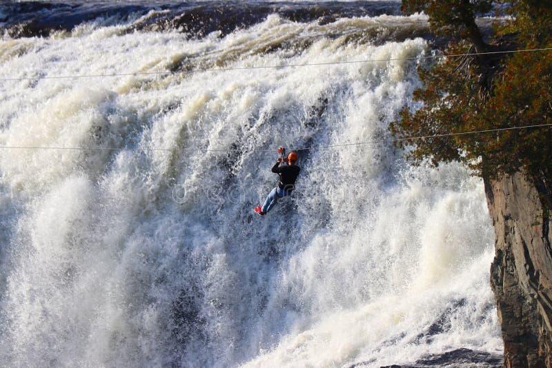 Экстремальные виды спорта, водопады стоковые изображения rf
