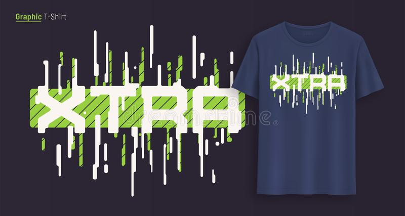 экстренно Графический дизайн футболки, оформление, печать со стилизованным текстом иллюстрация штока