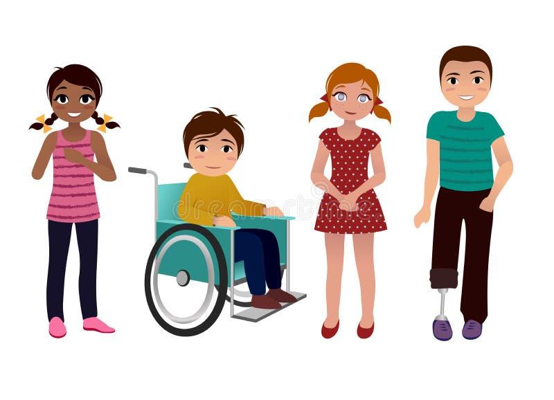 Экстренныйому выпуску нужен комплект детей счастливый бесплатная иллюстрация
