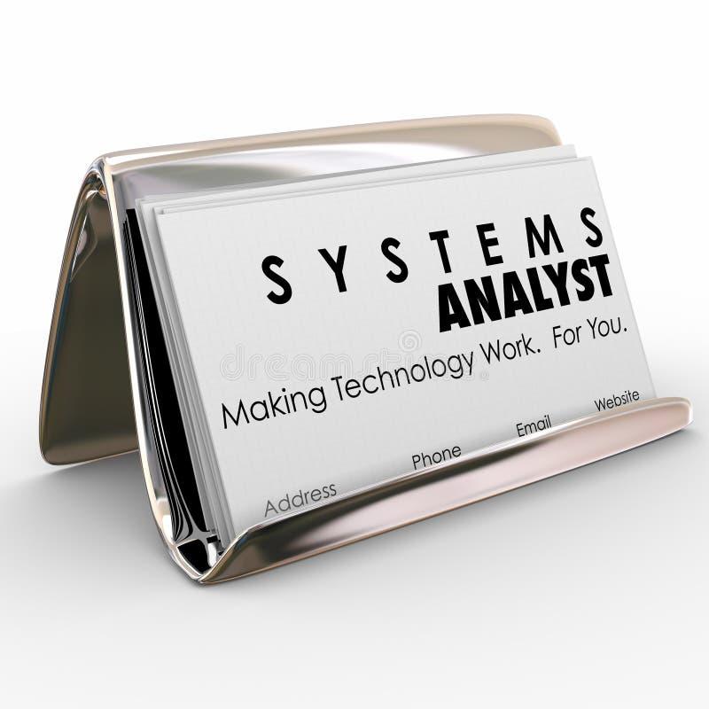 Экстренныйый выпуск компьютерной технологии владельца карточки дела специалист по системному анализу иллюстрация штока
