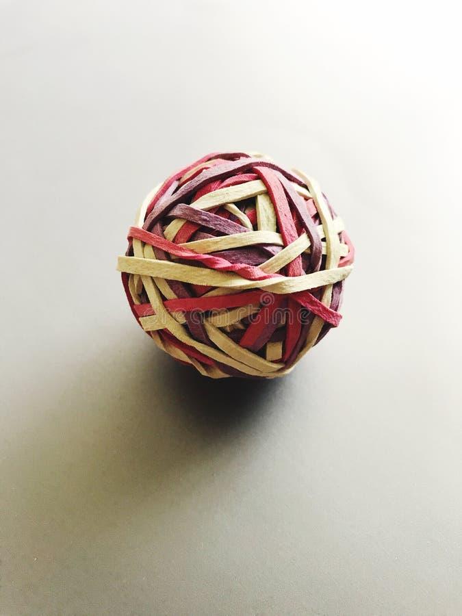 Эластичный шарик круглой резинкы стоковые фото