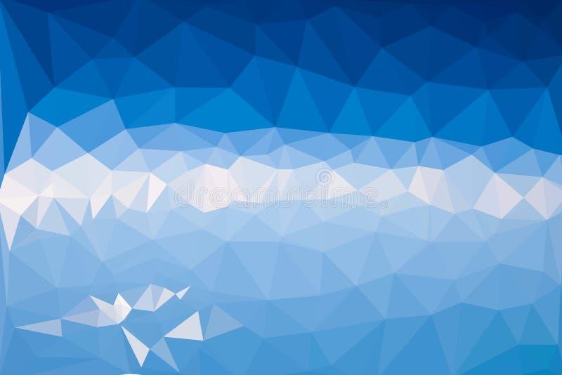 Элегантная голубая абстрактная предпосылка вектора полигона бесплатная иллюстрация