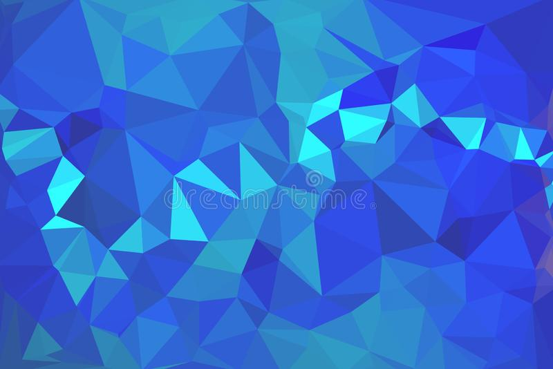 Элегантная голубая абстрактная предпосылка вектора полигона иллюстрация вектора