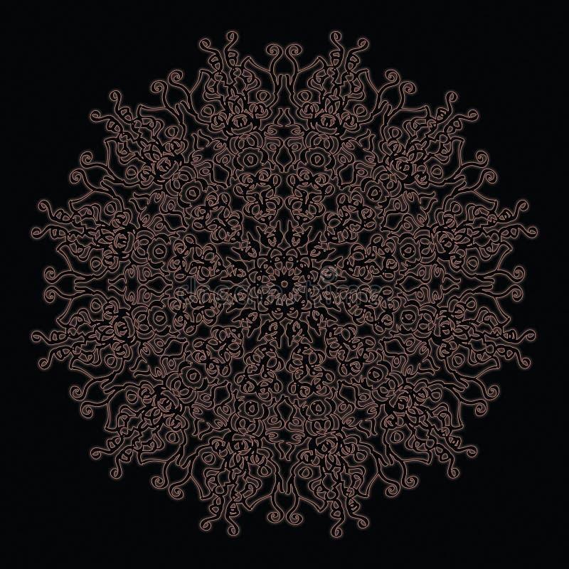 Элегантная и нежная картина круга шнурка иллюстрация вектора