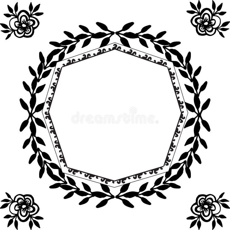 Элегантная картина со стилем года сбора винограда цветка, поздравительная открытка обоев дизайна r иллюстрация вектора
