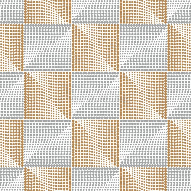 Элегантная квадратная серебр-золотая безшовная картина Геометрическая абстрактная золотая предпосылка Картина золота косоугольник бесплатная иллюстрация