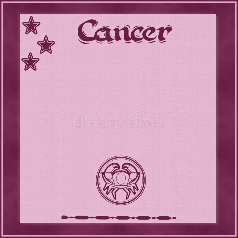 Элегантная рамка со знак-Карциномой зодиака иллюстрация штока