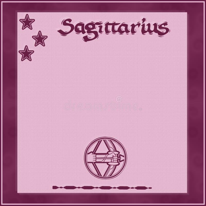 Элегантная рамка со знак-Стрелцом зодиака стоковое фото rf