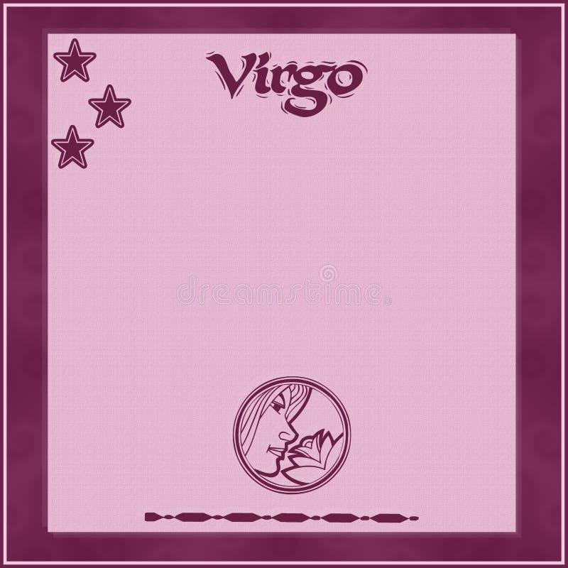 Элегантная рамка со знак-Virgo зодиака бесплатная иллюстрация