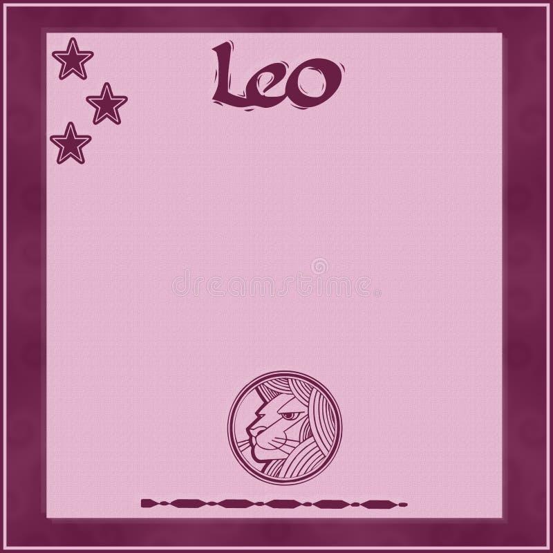 Элегантная рамка с зодиаком знак-Лео иллюстрация вектора