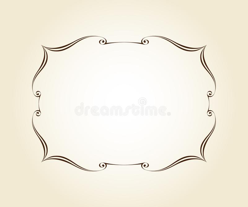 Элегантная ретро рамка r brougham бесплатная иллюстрация