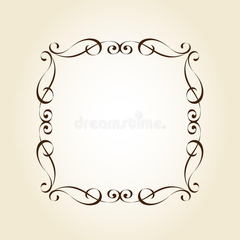 Элегантная ретро рамка r brougham иллюстрация вектора