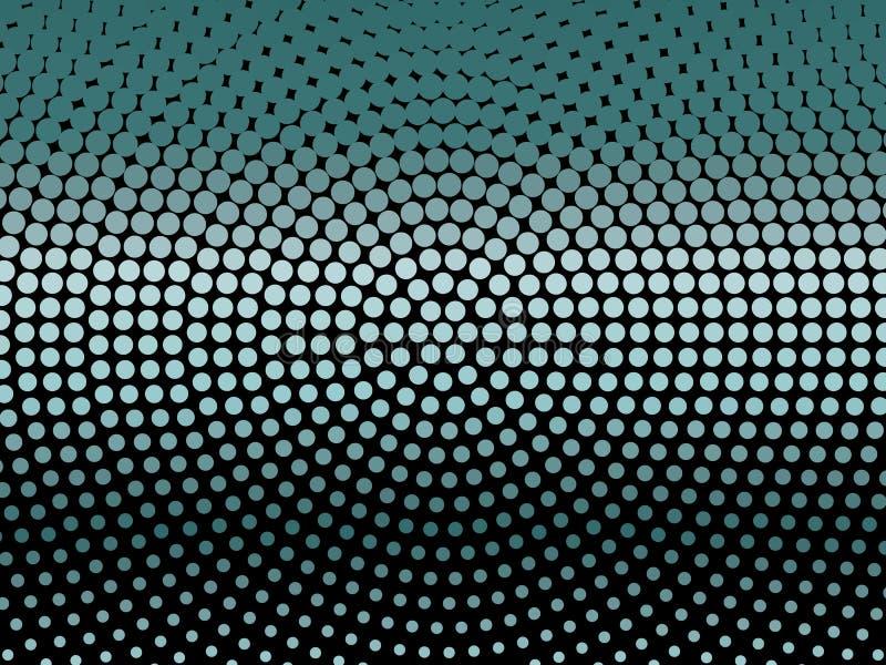 Элегантная черная предпосылка с светить, накаляя круги, ставит точки Неон, абстрактная картина приведенная светов и bokeh иллюстрация штока