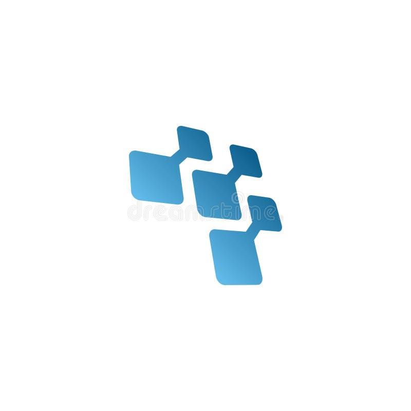 Элегантный вектор идеи проекта логотипа пиксела иллюстрация штока