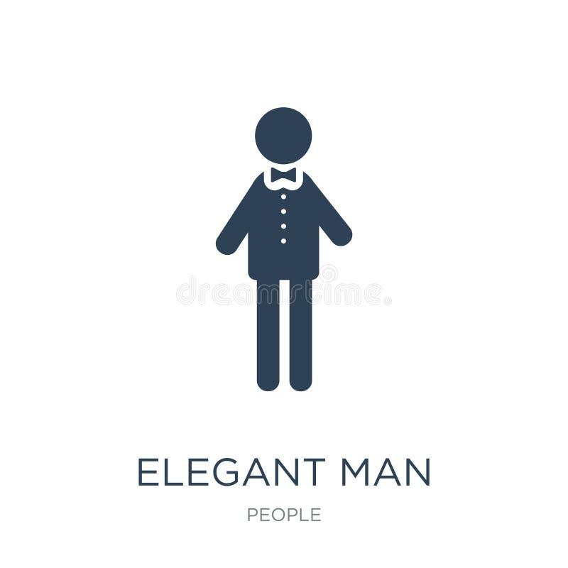 элегантный значок человека в ультрамодном стиле дизайна элегантный значок человека изолированный на белой предпосылке элегантный  бесплатная иллюстрация